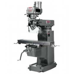"""JET 690450 JTM-1050VS2 10"""" X 50"""" VARIABLE SPEED VERTICAL MILLING MACHINE WITH ACU-RITE 203 2-AXIS DRO AND X, Y & Z-AXIS POWER FEEDS"""