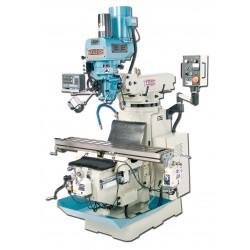 "BAILEIGH 1008136 VM-1054-3 10"" X 54"" ELECTRONIC VARIABLE SPEED VERTICAL MILLING MACHINE WITH MITUTOYO 2-AXIS DRO AND X, Y & Z-AXIS POWER FEEDS & POWER DRAW BAR"