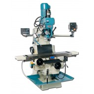 """BAILEIGH 1008169 VM-1258-3 12"""" X 58"""" ELECTRONIC VARIABLE SPEED VERTICAL MILLING MACHINE WITH MITUTOYO 2-AXIS DRO AND POWER DRAW BAR"""