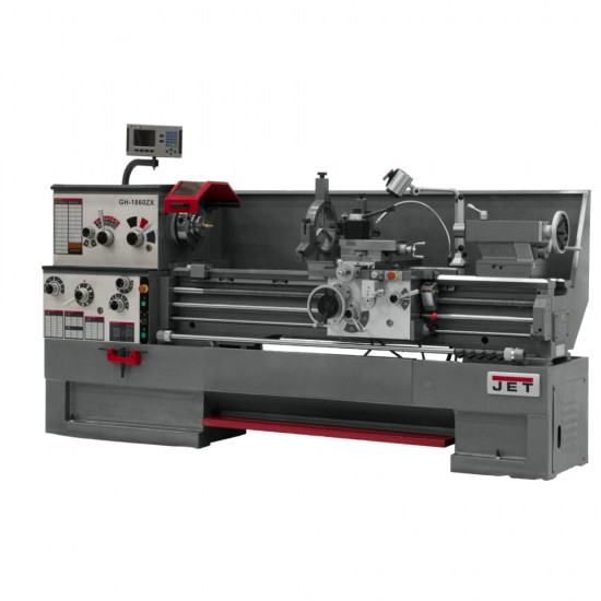 "JET 321485 GH-1860ZX 18"" X 60"" LARGE SPINDLE BORE ENGINE LATHE WITH NEWALL DP700 2-AXIS DRO"