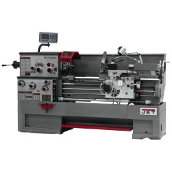 """JET 321302 GH-1440ZX 14"""" X 40"""" LARGE SPINDLE BORE ENGINE LATHE WITH ACU-RITE 303 2-AXIS DRO AND TAPER ATTACHMENT & 5C LEVER TYPE COLLET CLOSER"""