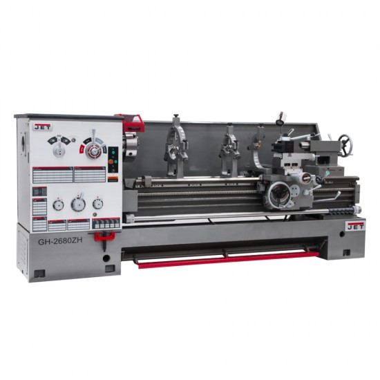 "JET 321894 GH-26120ZH 26"" X 120"" LARGE SPINDLE BORE ENGINE LATHE WITH NEWALL DP700 2-AXIS DRO AND TAPER ATTACHMENT"