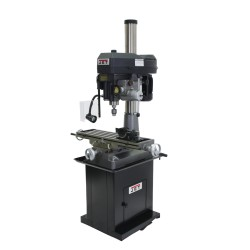 "JET 350120 JMD-18PFN 9-1/2"" x 31-3/4"" STEP PULLEY MILLING/DRILLING MACHINE WITH POWER DOWNFEED AND ACU-RITE 203 2-AXIS DRO & X-AXIS POWER FEED"
