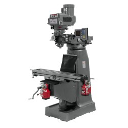 "JET 690008 JTM-4VS 9"" X 49"" VARIABLE SPEED VERTICAL MILLING MACHINE WITH X AND Y-AXIS POWER FEEDS"