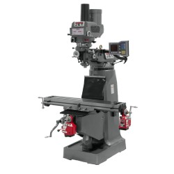 """JET 690009 JTM-4VS 9"""" X 49"""" VARIABLE SPEED VERTICAL MILLING MACHINE WITH X AND Y-AXIS POWER FEEDS & POWER DRAW BAR"""
