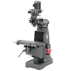 "JET 690006 JTM-2 9"" X 42"" STEP PULLEY VERTICAL MILLING MACHINE WITH X-AXIS POWER FEED"