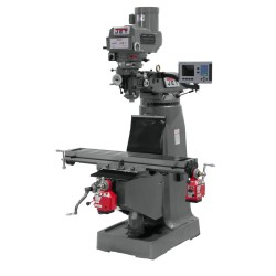 """JET 690118 JTM-4VS-1 9"""" X 49"""" VARIABLE SPEED VERTICAL MILLING MACHINE WITH ACU-RITE 303 3-AXIS (QUILL) DRO AND X & Y-AXIS POWER FEEDS"""