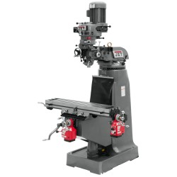 """JET 690017 JTM-2 9"""" X 42"""" STEP PULLEY VERTICAL MILLING MACHINE WITH X AND Y-AXIS POWER FEEDS"""