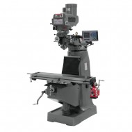 "JET 690179 JTM-4VS-1 9"" X 49"" VARIABLE SPEED VERTICAL MILLING MACHINE WITH ACU-RITE 203 2-AXIS DRO AND X-AXIS POWER FEED"