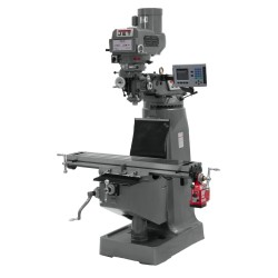 """JET 690107 JTM-4VS 9"""" X 49"""" VARIABLE SPEED VERTICAL MILLING MACHINE WITH ACU-RITE 203 2-AXIS DRO AND X-AXIS POWER FEED"""