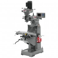 "JET 690144 JVM-836-1 7-7/8"" x 35-3/4"" STEP PULLEY VERTICAL MILLING MACHINE WITH ACU-RITE 203 2-AXIS DRO AND X-AXIS POWER FEED"