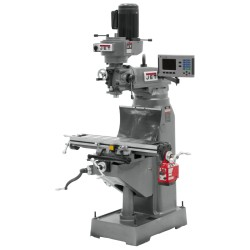 """JET 690177 JVM-836-1 7-7/8"""" x 35-3/4"""" STEP PULLEY VERTICAL MILLING MACHINE WITH ACU-RITE 203 2-AXIS DRO"""