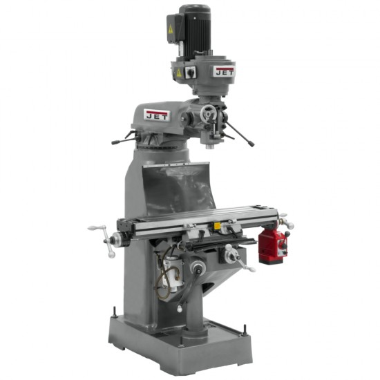 """JET 690156 JVM-836-1 7-7/8"""" x 35-3/4"""" STEP PULLEY VERTICAL MILLING MACHINE WITH X-AXIS POWER FEED"""