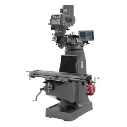 """JET 690184 JTM-4VS 9"""" X 49"""" VARIABLE SPEED VERTICAL MILLING MACHINE WITH ACU-RITE 203 3-AXIS (QUILL) DRO"""