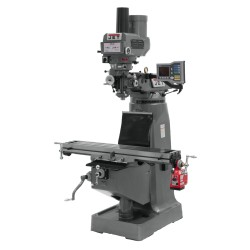 """JET 690119 JTM-4VS 9"""" X 49"""" VARIABLE SPEED VERTICAL MILLING MACHINE WITH POWER DRAW BAR"""