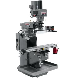 """JET 690502 JTM-949EVS 9"""" X 49"""" ELECTRONIC VARIABLE SPEED VERTICAL MILLING MACHINE WITH X-AXIS POWER FEED AND POWER DRAW BAR"""