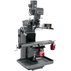 """JET 690503 JTM-949EVS 9"""" X 49"""" ELECTRONIC VARIABLE SPEED VERTICAL MILLING MACHINE WITH X AND Y-AXIS POWER FEEDS"""