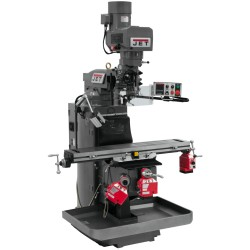 """JET 690504 JTM-949EVS 9"""" X 49"""" ELECTRONIC VARIABLE SPEED VERTICAL MILLING MACHINE WITH X, Y AND Z-AXIS POWER FEEDS"""