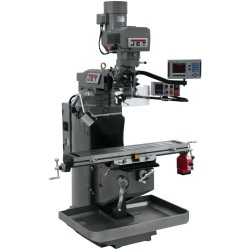"""JET 690520 JTM-949EVS 9"""" X 49"""" ELECTRONIC VARIABLE SPEED VERTICAL MILLING MACHINE WITH ACU-RITE 203 2-AXIS DRO AND X-AXIS POWER FEED"""