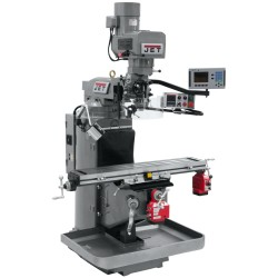 """JET 690522 JTM-949EVS 9"""" X 49"""" ELECTRONIC VARIABLE SPEED VERTICAL MILLING MACHINE WITH ACU-RITE 203 2-AXIS DRO AND X & Y-AXIS POWER FEEDS"""