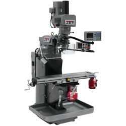 """JET 690523 JTM-949EVS 9"""" X 49"""" ELECTRONIC VARIABLE SPEED VERTICAL MILLING MACHINE WITH ACU-RITE 203 2-AXIS DRO AND X & Y-AXIS POWER FEEDS & POWER DRAW BAR"""