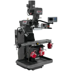 """JET 690524 JTM-949EVS 9"""" X 49"""" ELECTRONIC VARIABLE SPEED VERTICAL MILLING MACHINE WITH ACU-RITE 203 2-AXIS DRO AND X, Y & Z-AXIS POWER FEEDS"""