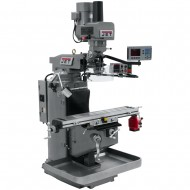 """JET 690526 JTM-949EVS 9"""" X 49"""" ELECTRONIC VARIABLE SPEED VERTICAL MILLING MACHINE WITH ACU-RITE 203 3-AXIS (KNEE) DRO AND X-AXIS POWER FEED & POWER DRAW BAR"""