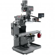 "JET 690545 JTM-949EVS 9"" X 49"" ELECTRONIC VARIABLE SPEED VERTICAL MILLING MACHINE WITH NEWALL DP700 3-AXIS (QUILL) DRO AND X-AXIS POWER FEED"