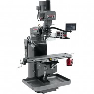 "JET 690546 JTM-949EVS 9"" X 49"" ELECTRONIC VARIABLE SPEED VERTICAL MILLING MACHINE WITH NEWALL DP700 3-AXIS (QUILL) DRO AND X-AXIS POWER FEED & POWER DRAW BAR"