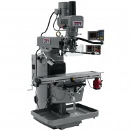 "JET 690602 JTM-1050EVS2/230 10"" X 50"" ELECTRONIC VARIABLE SPEED VERTICAL MILLING MACHINE WITH X-AXIS POWER FEED AND POWER DRAW BAR"