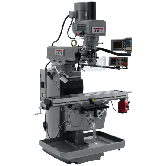 """JET 690602 JTM-1050EVS2/230 10"""" X 50"""" ELECTRONIC VARIABLE SPEED VERTICAL MILLING MACHINE WITH X-AXIS POWER FEED AND POWER DRAW BAR"""