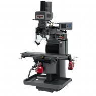 """JET 690627 JTM-1050EVS2/230 10"""" X 50"""" ELECTRONIC VARIABLE SPEED VERTICAL MILLING MACHINE WITH ACU-RITE 203 3-AXIS (KNEE) DRO AND X & Y-AXIS POWER FEEDS & POWER DRAW BAR"""