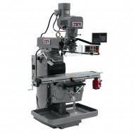 """JET 690634 JTM-1050EVS2/230 10"""" X 50"""" ELECTRONIC VARIABLE SPEED VERTICAL MILLING MACHINE WITH NEWALL DP700 2-AXIS DRO AND X-AXIS POWER FEED"""