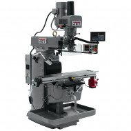 "JET 690640 JTM-1050EVS2/230 10"" X 50"" ELECTRONIC VARIABLE SPEED VERTICAL MILLING MACHINE WITH NEWALL DP700 3-AXIS (KNEE) DRO AND X-AXIS POWER FEED & POWER DRAW BAR"