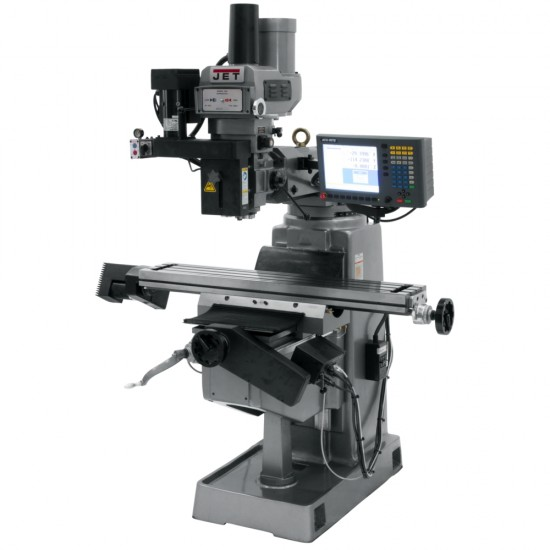 """JET 690948 JTM-4VS 9"""" X 49"""" VARIABLE SPEED VERTICAL MILLING MACHINE WITH ACU-RITE MILLPWR G2 3-AXIS CNC CONTROL"""