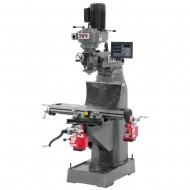 "JET 691175 JVM-836-1 7-7/8"" x 35-3/4"" STEP PULLEY VERTICAL MILLING MACHINE WITH NEWALL DP700 2-AXIS DRO AND X & Y-AXIS POWER FEEDS"