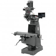 """JET 691187 JTM-1 9"""" X 42"""" STEP PULLEY VERTICAL MILLING MACHINE WITH NEWALL DP700 2-AXIS DRO"""