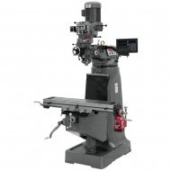 "JET 691191 JTM-1 9"" X 42"" STEP PULLEY VERTICAL MILLING MACHINE WITH NEWALL DP700 3-AXIS (QUILL) DRO AND X-AXIS POWER FEED"