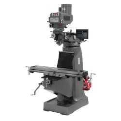 "JET 690090 JTM-4VS 9"" X 49"" VARIABLE SPEED VERTICAL MILLING MACHINE WITH NEWALL DP700 3-AXIS (QUILL) DRO AND X-AXIS POWER FEED"