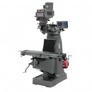 "JET 691411 JTM-4VS-1 9"" X 49"" VARIABLE SPEED VERTICAL MILLING MACHINE WITH ACU-RITE 203 3-AXIS (KNEE) DRO AND X-AXIS POWER FEED"