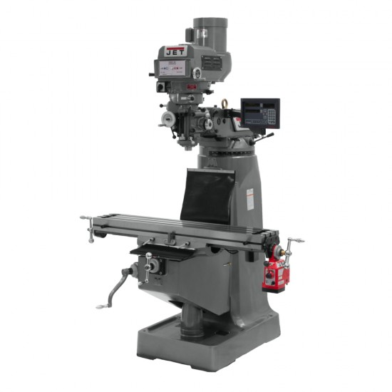 """JET 692087 JTM-4VS-1 9"""" X 49"""" VARIABLE SPEED VERTICAL MILLING MACHINE WITH NEWALL DP700 2-AXIS DRO"""