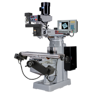 """KENT USA KTM-3VKF-MILLPWRG2-2 10"""" X 50"""" ELECTRONIC VARIABLE SPEED VERTICAL MILLING MACHINE WITH ACU-RITE MILLPWR G2 2-AXIS CNC CONTROL"""