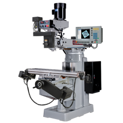 "KENT USA KTM-3VKF-MILLPWRG2-3 10"" X 50"" ELECTRONIC VARIABLE SPEED VERTICAL MILLING MACHINE WITH ACU-RITE MILLPWR G2 3-AXIS CNC CONTROL"