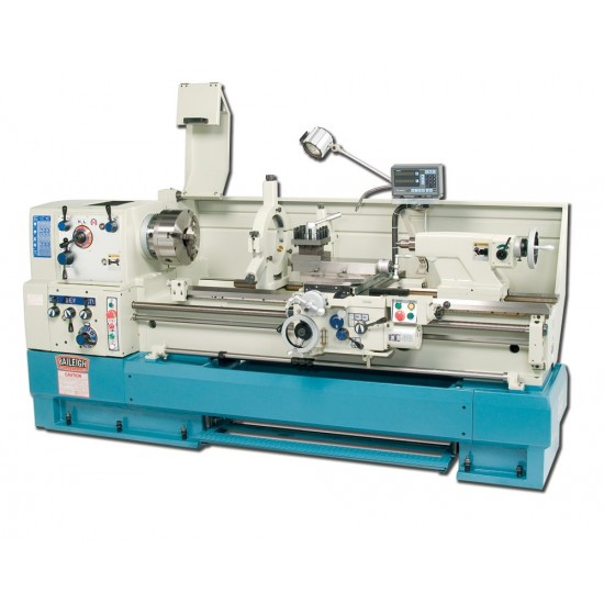 """BAILEIGH 1006164 PL-2060 20"""" X 60"""" GEARED HEAD GAP BED ENGINE LATHE WITH MITUTOYO 2-AXIS DRO"""
