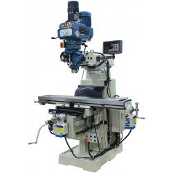 "BAILEIGH 1020696 VM-1054E-VS 10"" X 54"" VARIABLE SPEED VERTICAL MILLING MACHINE WITH 2-AXIS DRO AND X & Y-AXIS POWER FEEDS & POWER DRAW BAR"