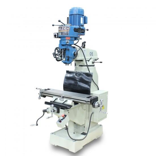 "BAILEIGH 1020694 VM-836E-1 8"" X 36"" STEP PULLEY VERTICAL MILLING MACHINE"