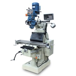 "BAILEIGH 1020695 VM-942E-1 9"" X 42"" STEP PULLEY VERTICAL MILLING MACHINE WITH 2-AXIS DRO"