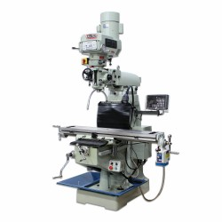 "BAILEIGH 1019108 VM-949E-VS 9"" X 49"" VARIABLE SPEED VERTICAL MILLING MACHINE WITH 2-AXIS DRO AND X-AXIS POWER FEED"